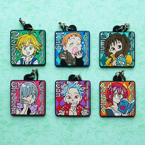 The Seven Deadly Sins Nanatsu No Taizai Rubber Keychain