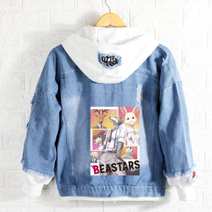 New Spring BEASTARS Regoshi hoodie Anime Wolf rabbit  Jacket