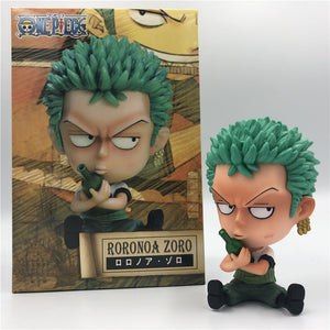 One Piece Roronoa Zoro Bottle Hugging Childhood Q Sitting Ver. PVC Figures 10cm