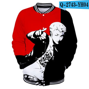 Persona 5 3D Printed Baseball Jackets Casual Streetwear Clothes