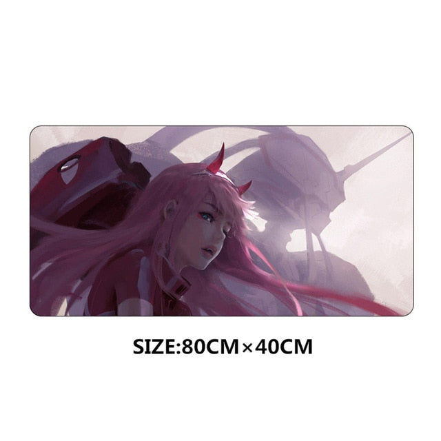 80x40cm large XL Darling in the FranXX mouse pad Anti-slip - Kawainess