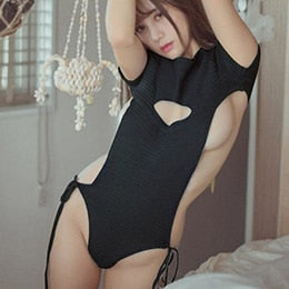 Backless Virgin Killer Sweater Bodysuit