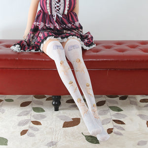 Sweet Printed Lolita Long Stockings