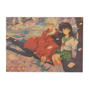 Inuyasha Wall Sticker Poster 51.5X36cm