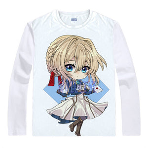 Violet Evergarden T-Shirts Multi-style Long Sleeve Shirts