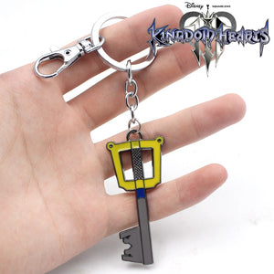 Kingdom Hearts Sora Key Keyblade+Paopu Fruit Weapon Gold Metal Handmade