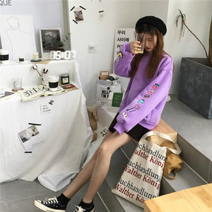 Harajuku Bf Wind Casual Loose Sweatshirt