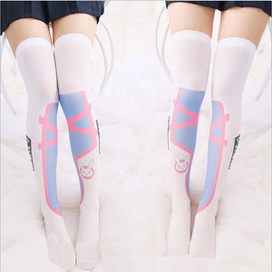 Overwatch D.va Kawaii Girl's Comfortable Game thigh high - Kawainess