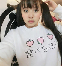 Japanese Delicious Strawberry Kawaii Sweatshirts - Kawainess