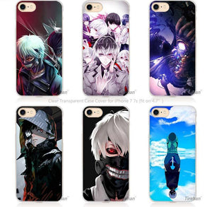 Tokyo Ghouls Hard Transparent Phone Case Covers for Iphone Batch 1