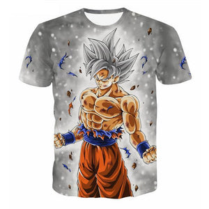 High Quality Dragon Ball Super Silver Ultra Instinct Goku T-Shirt - Kawainess