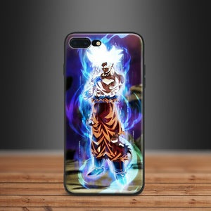 Dragon Ball Super Glowing Goku Ultra Instinct Apple IPhone 5 5s SE 6 6s 7 8 Plus X 10 - Kawainess