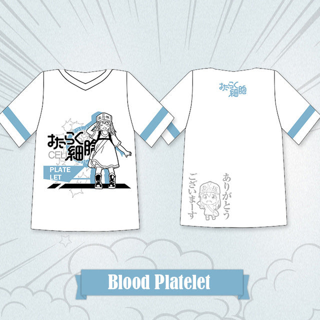 Cells At Work Blood Platelet, Red Blood Cell, White Blood Cell, T-shirts - Kawainess