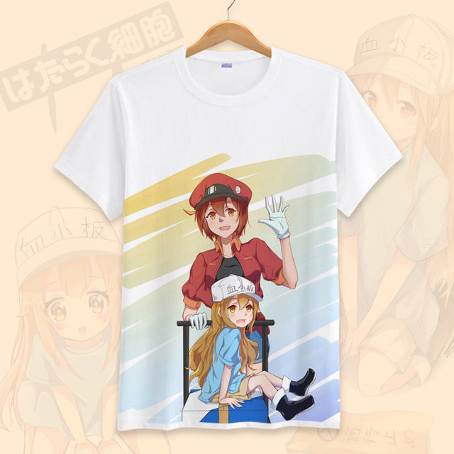 Cells at Work Erythrocite Red Blood Cell and Blood Platelet T-shirt Section 2 - Kawainess