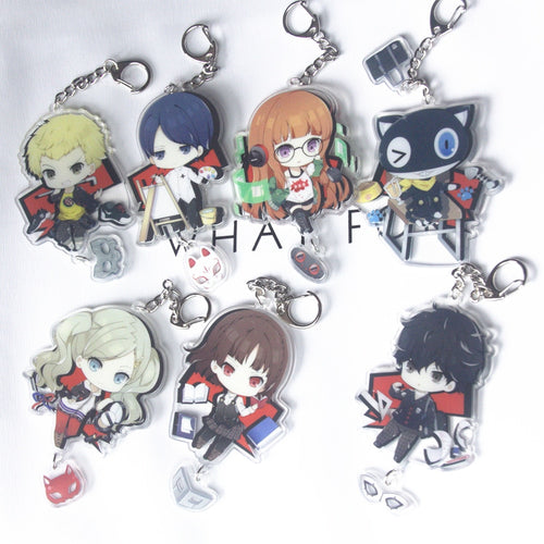 Persona 5 Anime Two Sided Big Size Acrylic Keychain