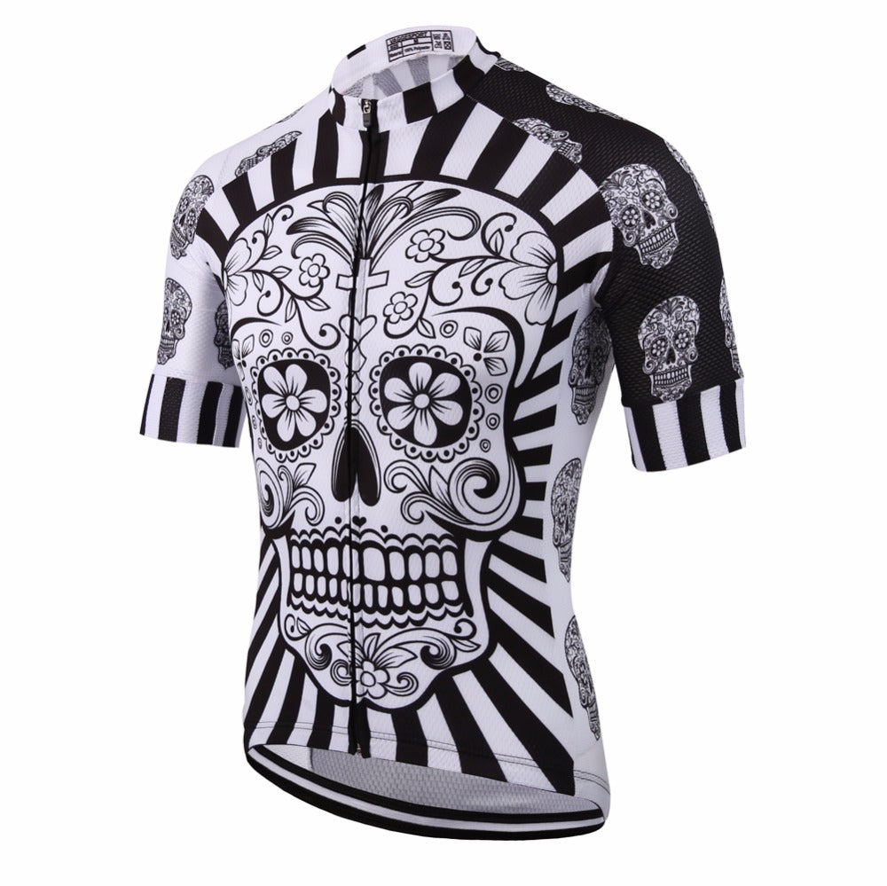 a124ca77d Sugar Skull Short Sleeve Pro Cycling Jersey for Men – Expressive HQ