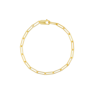 Bronson Gold Small Oval Chain Link Bracelet