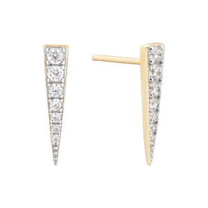 Montreal Gold Spike Stud Earrings