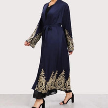 Load image into Gallery viewer, Navy Blue Mazal Open Abaya