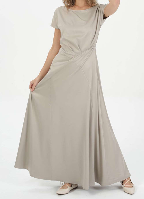 MODGREY ASYMMETRIC SATEEN DRESS