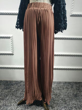Load image into Gallery viewer, Kamilah Pleated Wide-Leg Trousers