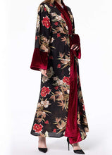 Load image into Gallery viewer, Fleur Floral Pattern Open Abaya