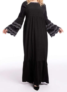 Black Ella Long Dress