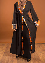 Load image into Gallery viewer, Black Eva Open Abaya