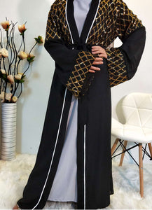 Asha Sequined Diamond Abaya