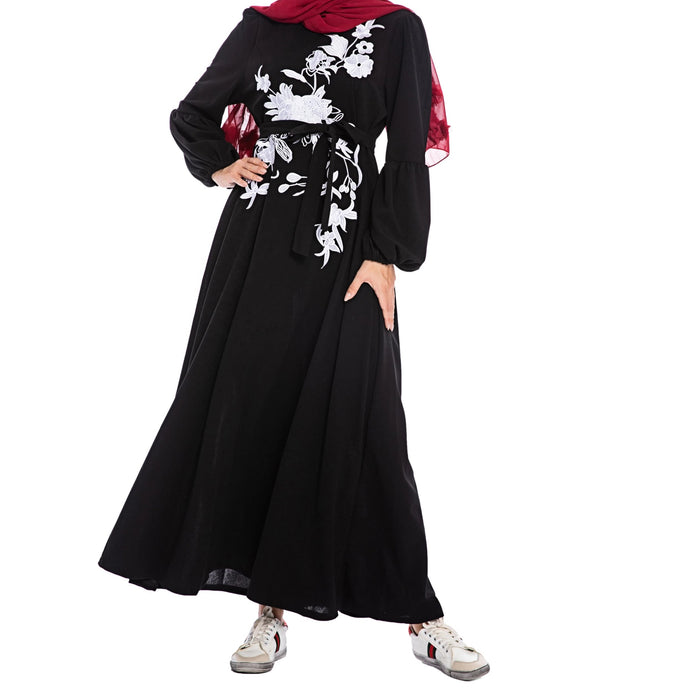 Devorah Floral Pattern Long Dress