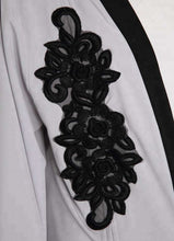 Load image into Gallery viewer, Grey Tamar Black Embroidered Open Abaya