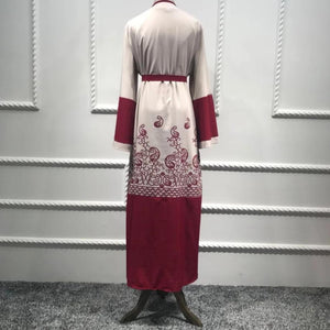 Red Akiva Open Abaya