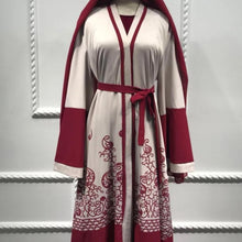 Load image into Gallery viewer, Red Akiva Open Abaya