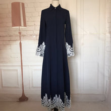 Load image into Gallery viewer, Dark Blue Juana Long Dress