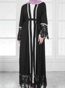 Aaleyah Beaded Open Abaya