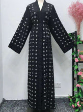 Load image into Gallery viewer, Black Aina Open Abaya