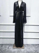 Load image into Gallery viewer, Black Benesh Open Abaya
