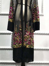 Load image into Gallery viewer, Black Rafah Mesh Open Abaya