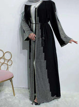 Load image into Gallery viewer, Black Yushfa Open Abaya