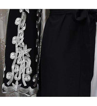 Load image into Gallery viewer, Black Marita Embroidered Open Abaya-ELEVE