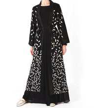Load image into Gallery viewer, Black Leen Open Abaya-ELEVE