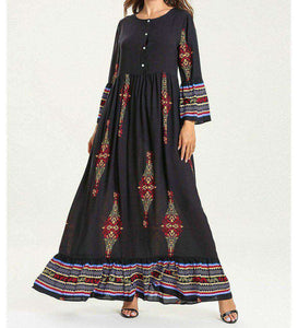Black Najida Long Dress-ELEVE