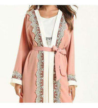 Load image into Gallery viewer, Pink Tamin Open Abaya-ELEVE