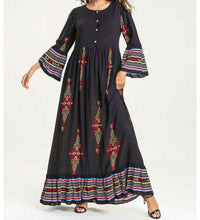 Load image into Gallery viewer, Black Najida Long Dress-ELEVE