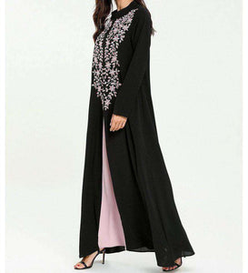 Black Wordah Plus Size Long Dress-ELEVE