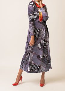 Felicity Polka Dot Wrap Dress