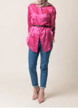 Load image into Gallery viewer, Anya Silk Polka Dot Button Up Shirt