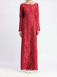 Emmary Floral Lace Long Dress