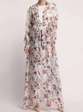 Load image into Gallery viewer, Farani Floral Open Abaya