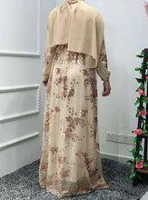 Load image into Gallery viewer, Fayrah Floral Lace Abaya